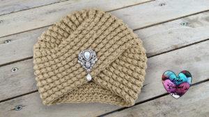 Turban tricot femme Lidia Crochet Tricot