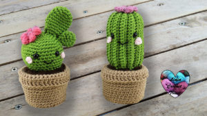 Cactus kawaii amigurumi Lidia Crochet Tricot crochet DIY Lidia Crochet Tricot