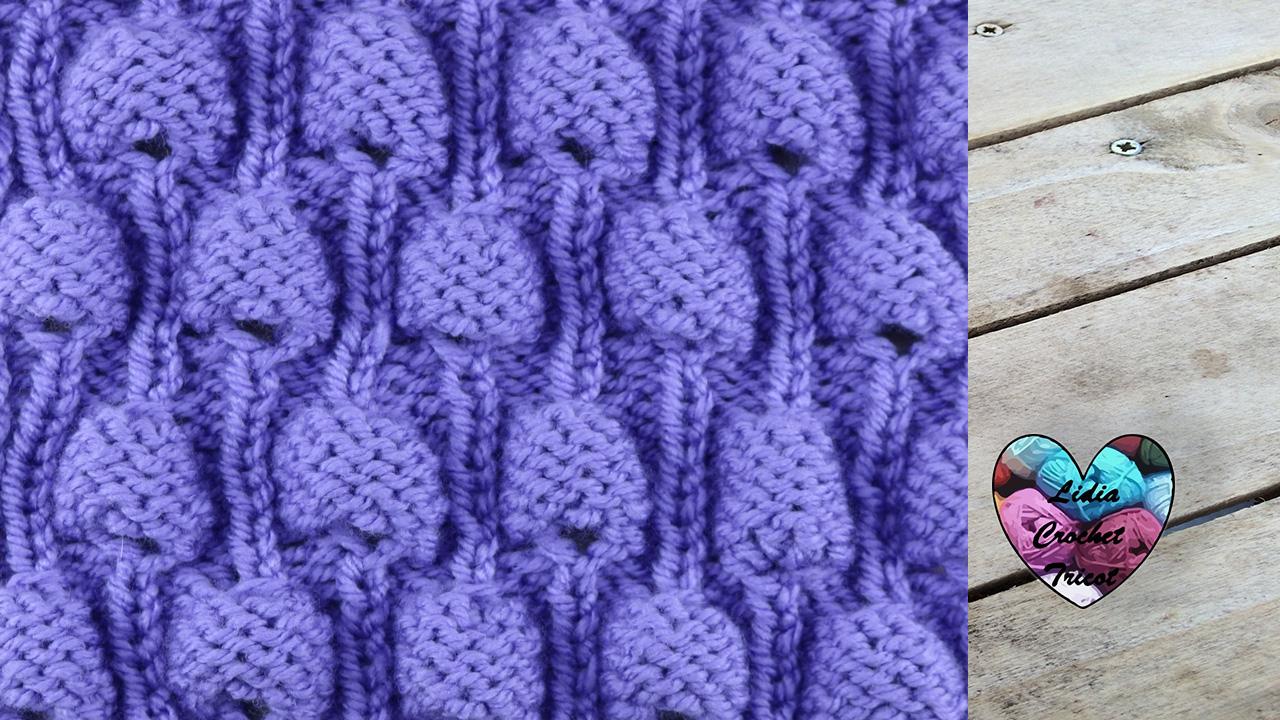 Point bulles tutoriel au tricot pr sent par lidia crochet tricot - Modele de point au tricot ...