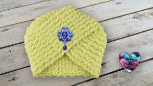 Turban crochet femme Lidia Crochet Tricot