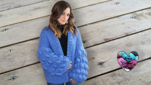 Cardigan boules Lidia Crochet Tricot
