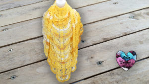 Châle pamplemousse Lidia Crochet Tricot crochet DIY Lidia Crochet Tricot