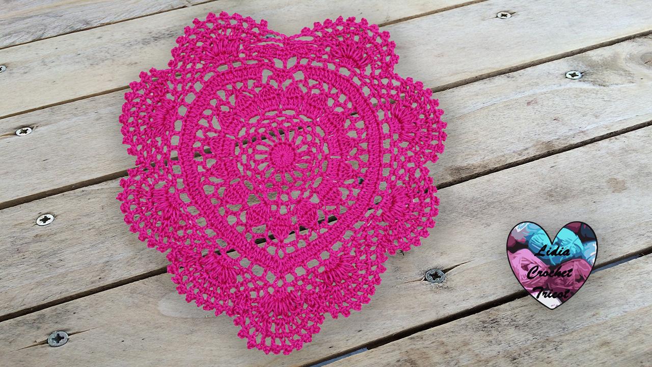 Napperon cœur Lidia Crochet Tricot crochet DIY Lidia Crochet Tricot