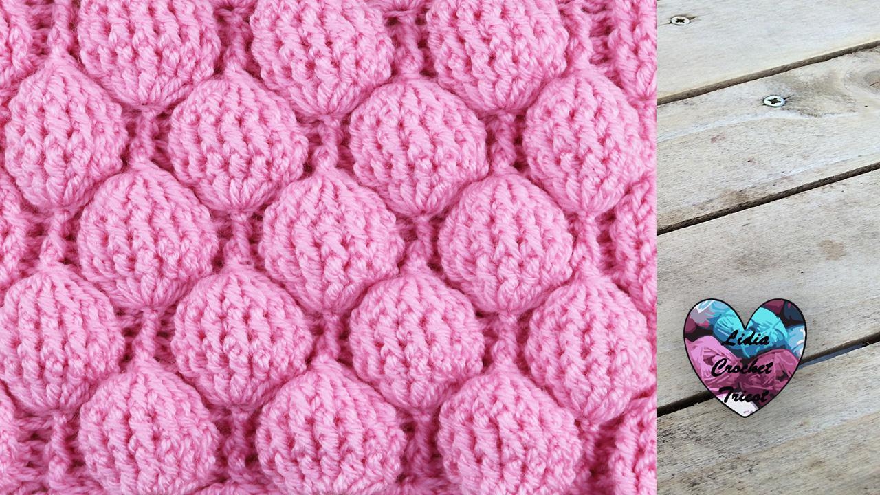 Point ballons. Point fleurs en relief crochet fait main tutoriel DIY Lidia  Crochet Tricot c8a456434c3