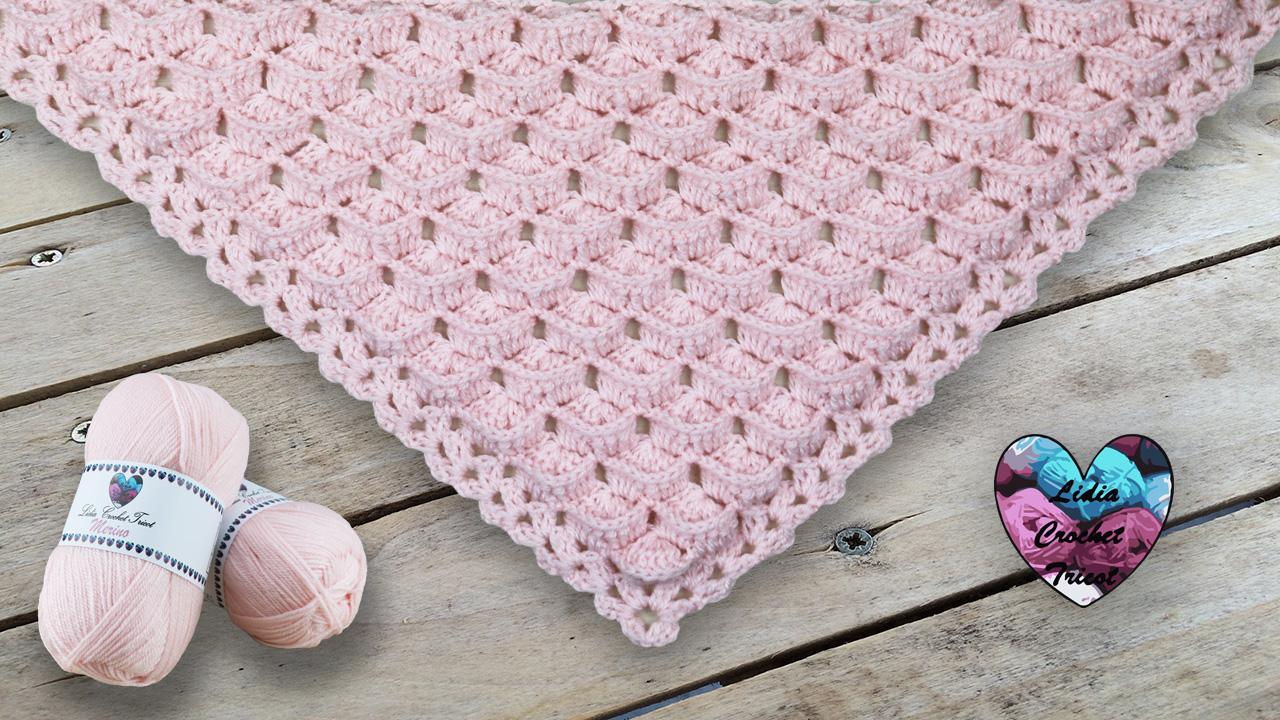 Châle 3D Lidia Crochet Tricot crochet DIY Lidia Crochet Tricot