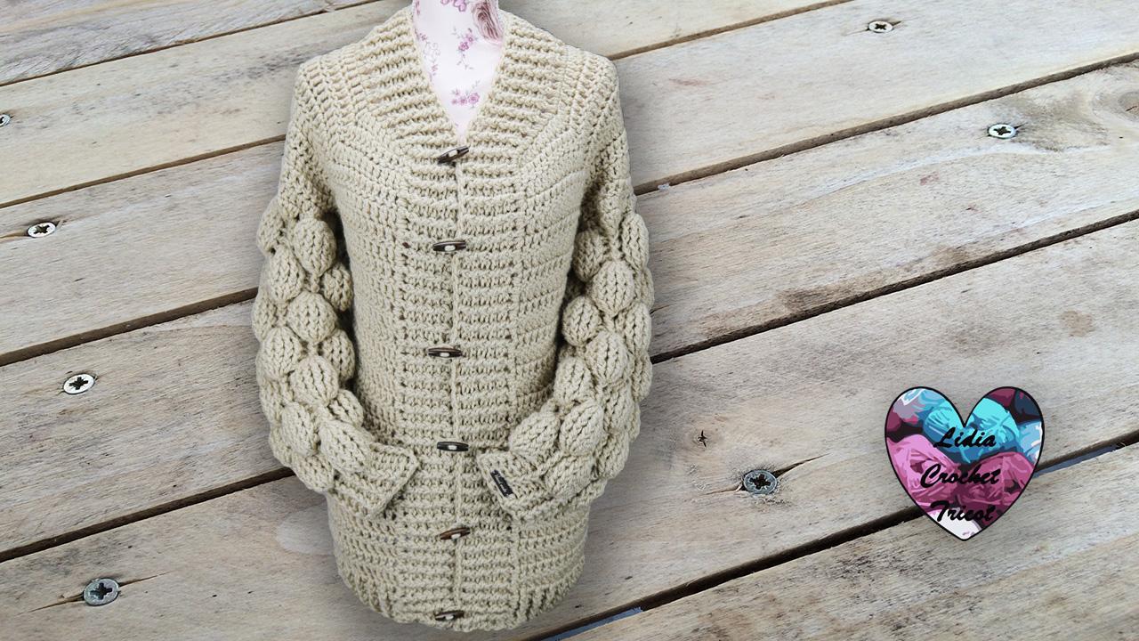 Cardigan boules crochet Lidia Crochet Tricot crochet DIY Lidia Crochet Tricot