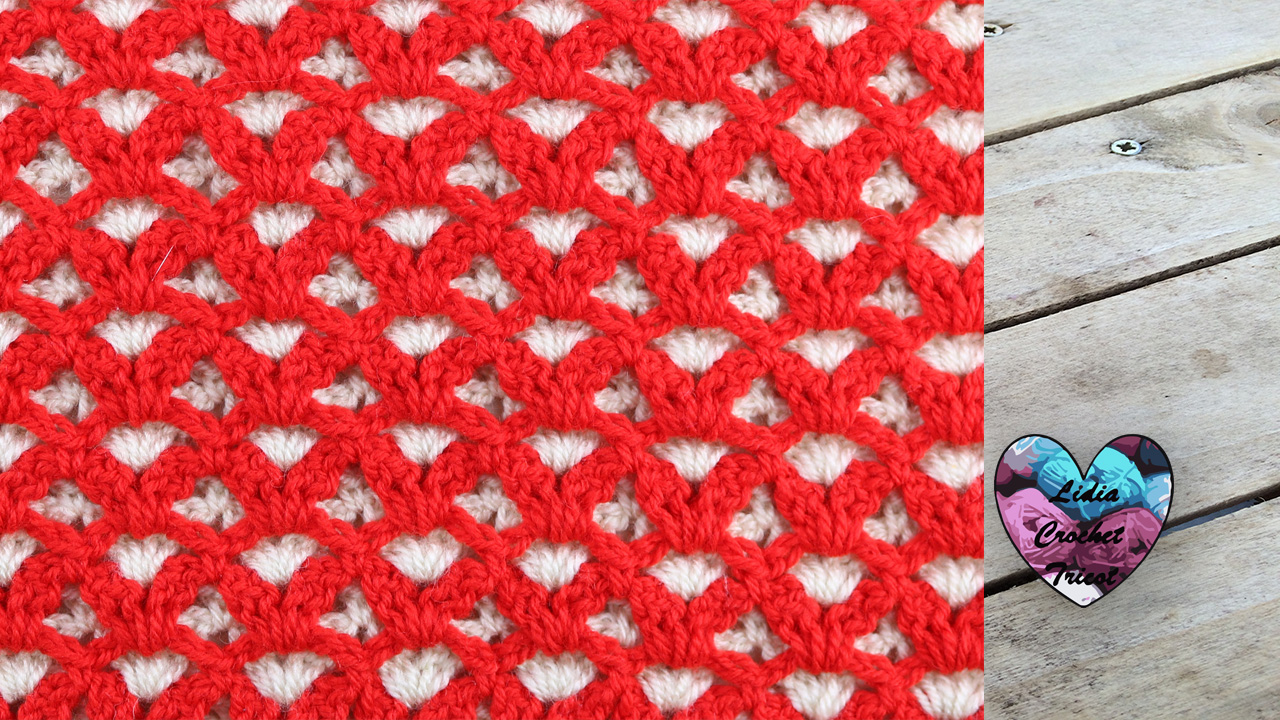 Point réversible couverture Lidia Crochet Tricot