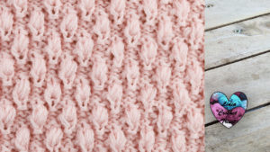 Points petites tulipes tricot facile fait main tutoriel DIY Lidia Crochet Tricot