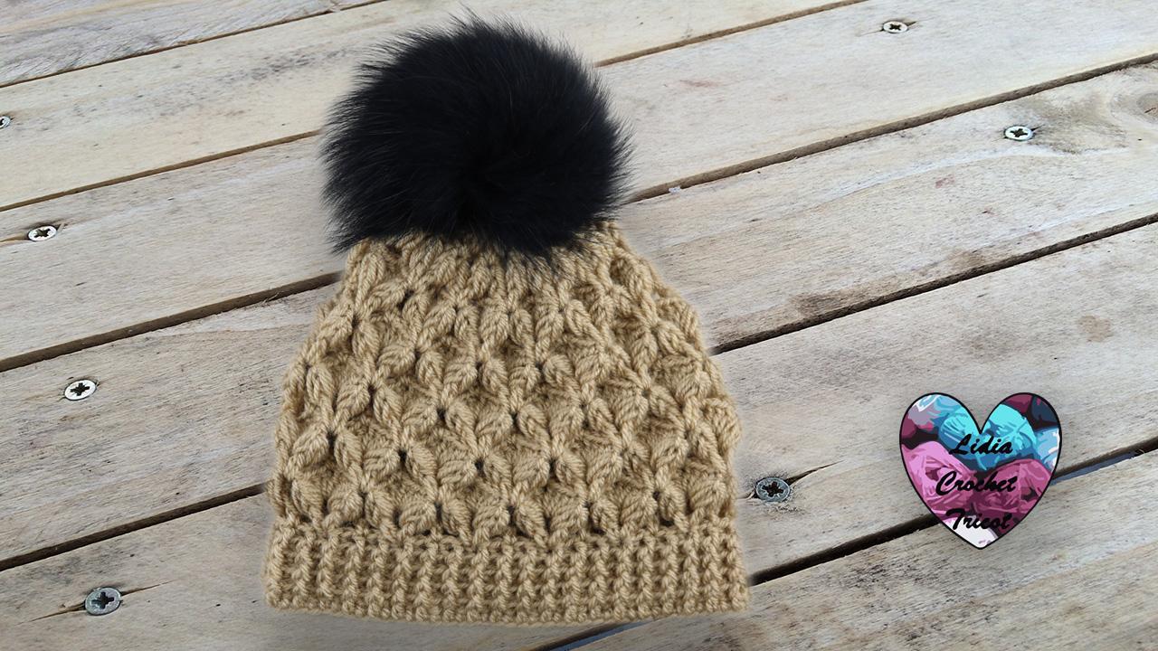 Bonnet point relief crochet Lidia Crochet Tricot crochet DIY Lidia Crochet Tricot