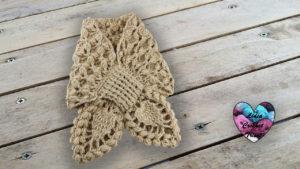 Écharpe croisée crochet Lidia Crochet Tricot crochet DIY Lidia Crochet Tricot