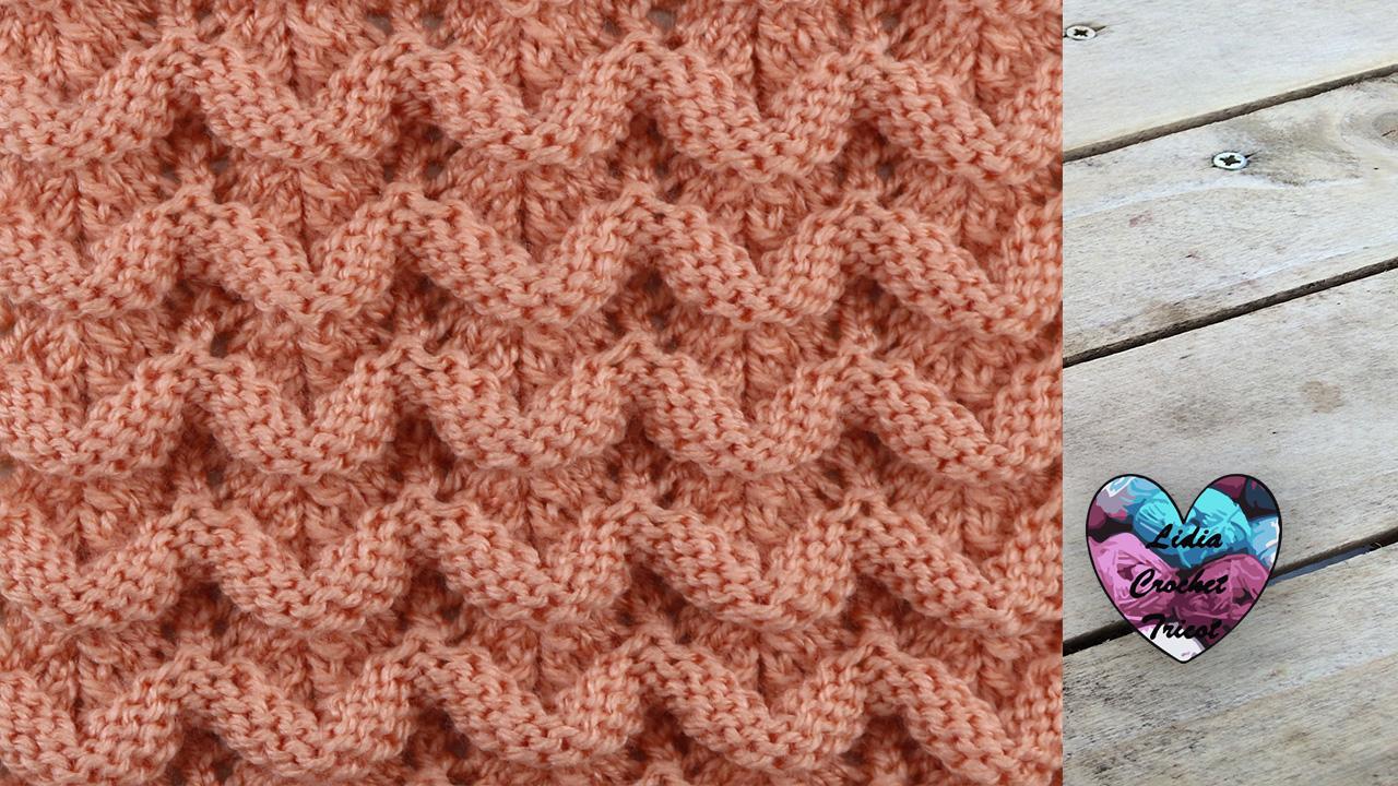 Point petites vagues tutoriel au tricot pr sent par lidia crochet tricot - Point de ble au tricot ...