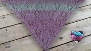 Châle tricot petites Araignées Lidia Crochet Tricot