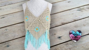 Top granny fleurs Lidia Crochet Tricot