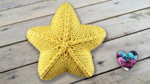 Coussin étoile TrapiXL Lidia Crochet Tricot
