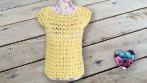 Blouse coquilles crochet Lidia Crochet Tricot