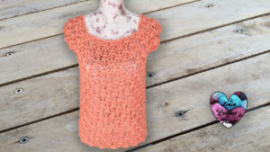 Blouse point fleuri Lidia Crochet Tricot