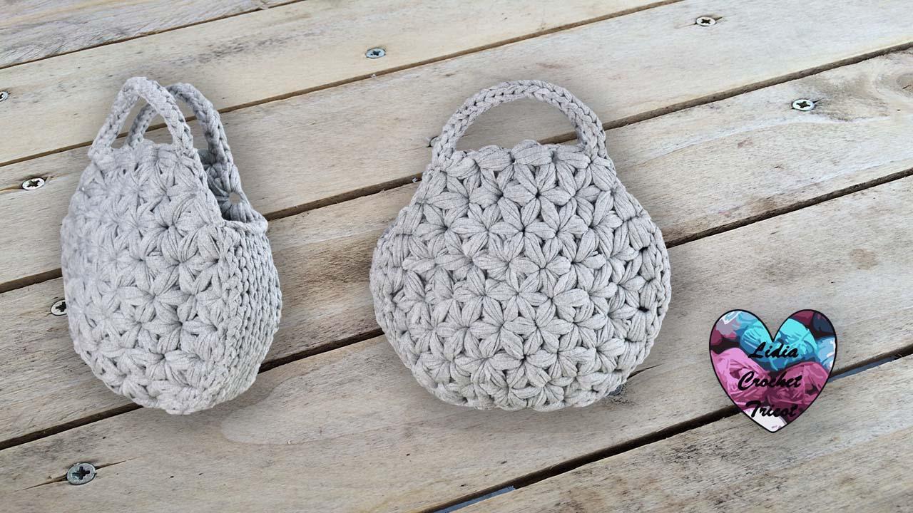 Sac Jasmin TrapiXL: tutoriel au crochet, présenté par Lidia Crochet Tricot