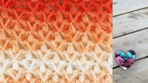 Point petites fleurs en relief crochet tutoriel DIY Lidia Crochet Tricot