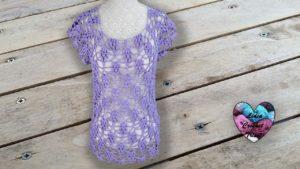 Blouse raisins Lidia Crochet Tricot