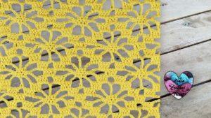 Point fleurs ajouré crochet tutoriel DIY Lidia Crochet Tricot