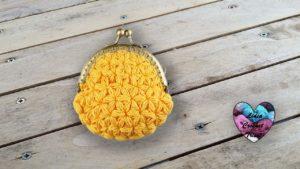 Porte-monnaie Point Jasmin Lidia Crochet Tricot