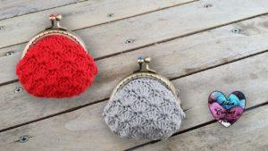 Porte-monnaie éventails crochet DIY Lidia Crochet Tricot