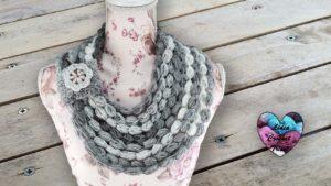 Tour de cou Infinity crochet Lidia Crochet Tricot DIY Lidia Crochet Tricot