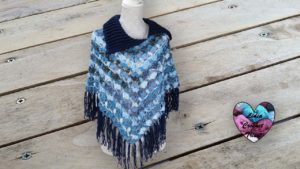 Poncho cape petits champignons DIY Lidia Crochet Tricot