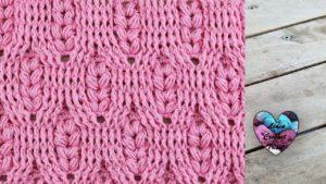 Point épis de blé 3D Lidia Crochet Tricot