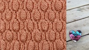 Point perles en relief tricot facile fait main tutoriel DIY Lidia Crochet Tricot