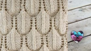 Point plumes en relief Lidia Crochet Tricot