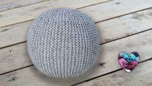 Pouf tricot TrapiXL Lidia Crochet Tricot