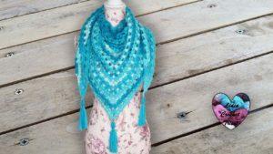 Châle chignons Lidia Crochet Tricot