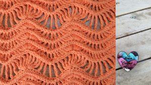 Point zig zag ajouré Lidia Crochet Tricot