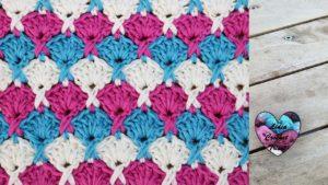 Point éventails croisés Lidia Crochet Tricot