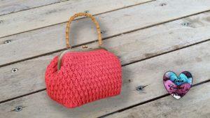 Sac Vanity vintage crochet Lidia Crochet Tricot