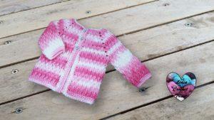Brassière veste unisexe Lidia Crochet Tricot