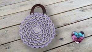 Sac pétales de fleur Lidia Crochet Tricot