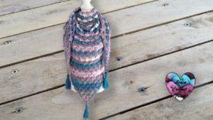 Châle Fléchettes Lidia Crochet Tricot