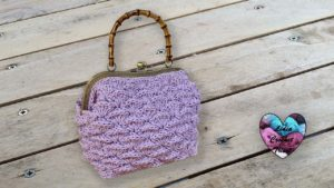 Sac à main Vanity Coquillages Lidia Crochet Tricot
