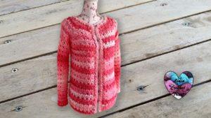 Gilet chignons Lidia Crochet Tricot