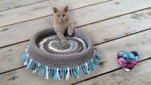 Panier à chat Lidia Crochet Tricot