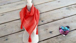 Châle crochet tunisien Lidia Crochet Tricot