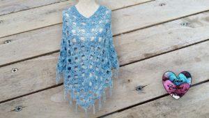 Poncho cape Mariposa Lidia Crochet Tricot