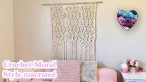 Colgante macramé crochet Lidia Crochet Tricot