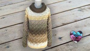 Pull petits cœurs Lidia Crochet Tricot