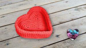 Panier cœur TrapiXL Lidia Crochet Tricot