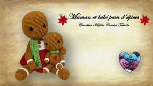 Maman et bébé pain d'épices Lidia Crochet Tricot