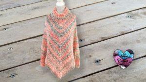 Poncho pull Diva Lidia Crochet Tricot