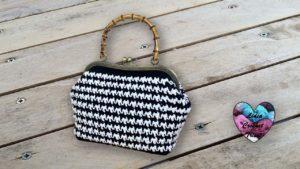 Sac Vanity pied de poule Lidia Crochet Tricot